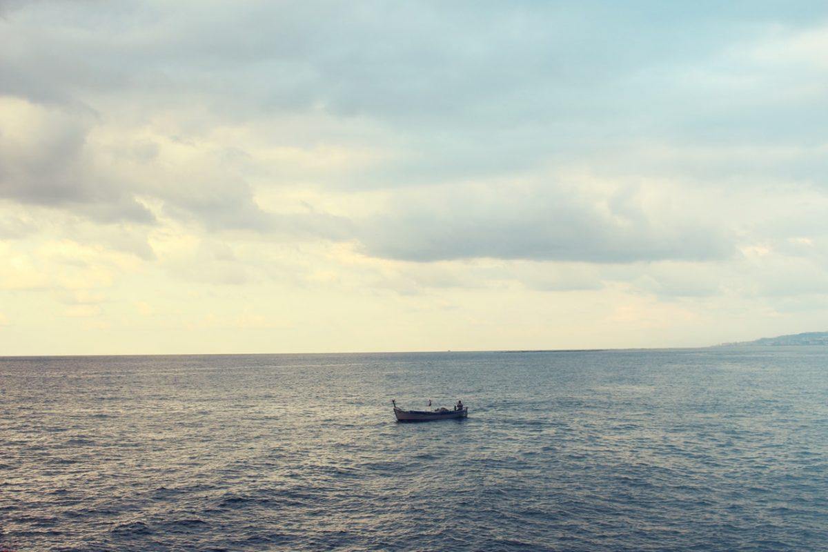 Båt på havet